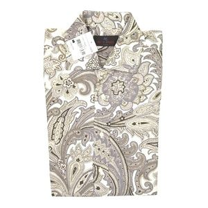 Etro Milano Paisley Long Sleeve Dress Shirt 40